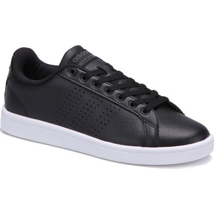AdidasAdidas Cloudfoam Advantage Clean Siyah Erkek Deri Sneaker