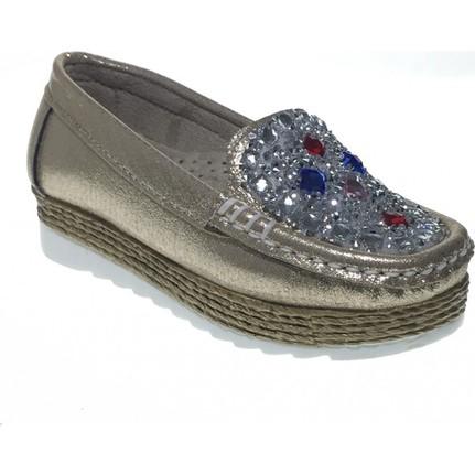 Yaman 187 Günlük Kız Çocuk Taşlı Ayakkabı Bakır