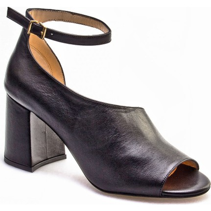 Cabani Tokalı Yan Dekolte Günlük Kadın Ayakkabı Siyah Deri