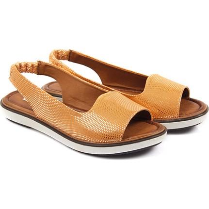 Gön Deri 45709 Turuncu Kadın Sandalet