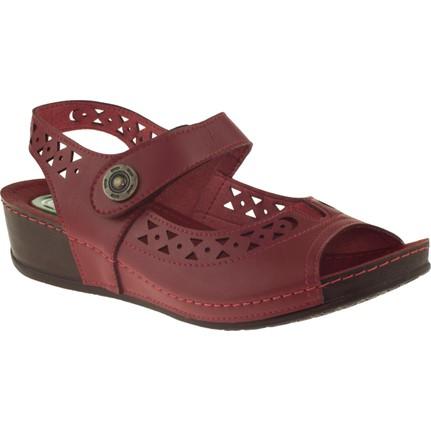 Muya 27127 Tek Cırt Kırmızı Kadın Sandalet