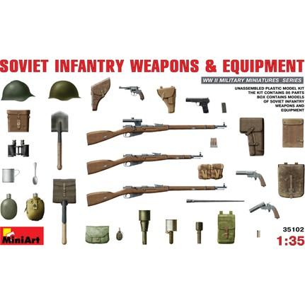 Miniart 135 ölçek Plastik Maket Sovyet Piyade Silah Ve Fiyatı