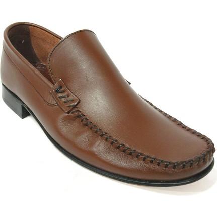 Darkwood 55805 Kahverengi Bağcıksız Kösele Erkek Ayakkabı