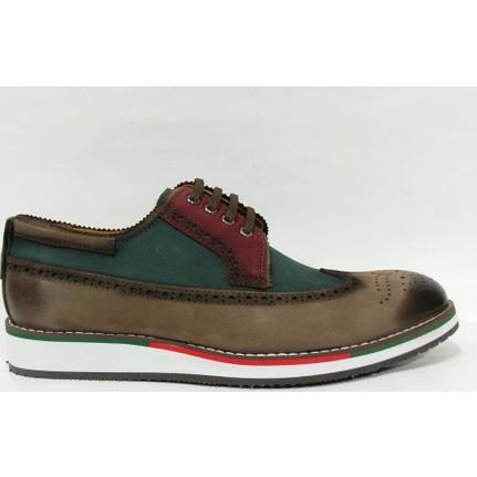 Marcomen 71592 Vizon Yeşil Bağcıklı Erkek Ayakkabı