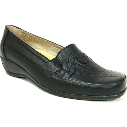 Fogs 6427 Siyah Ortopedik Kadın Ayakkabı