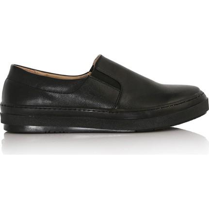 EsMODA Cc-2030 Siyah Deri Kadın Günlük Ayakkabı