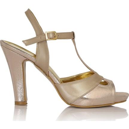 EsMODA Cc-668 Füme Parlak Klasik Topuklu Ayakkabı
