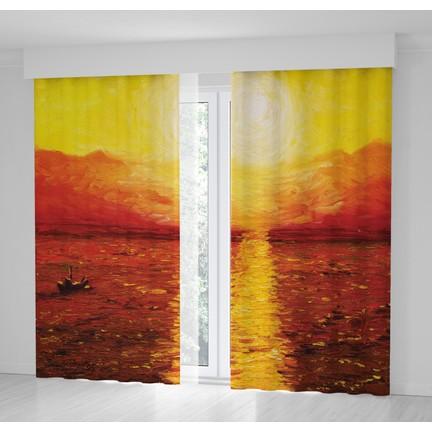 Positivehome Romantik Günbatımı Deniz Güneş Yağlı Boya Fon Fiyatı