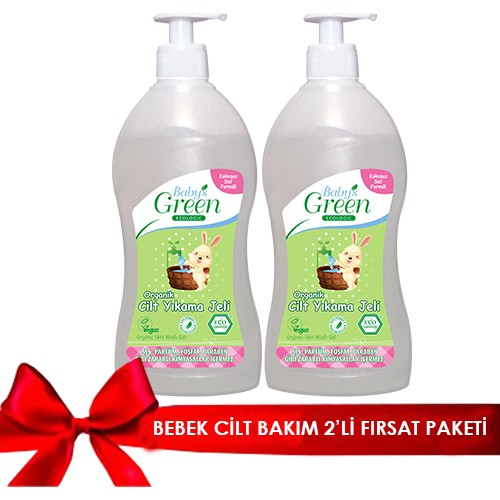 Baby's Green Organik Cilt Jeli 500 ml 2'li Set
