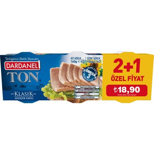 Dardanel Ton Balığı Bitkisel Yağlı 160 Gr X 3