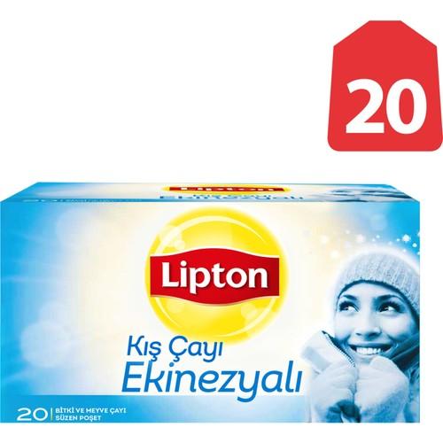 Lipton Bardak Poşet Çay Ekinezyalı Kış Çayı 20'Li