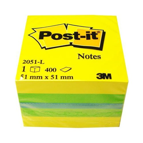 Post-it® Not, Mini Küp, Sari Tonlari, 400 yaprak, 51,8x51,8mm