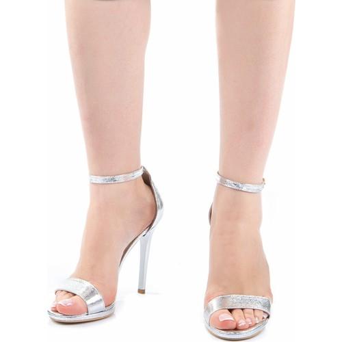 ModaBuymuş Platform Topuklu Tek Bantlı Abiye Ayakkabı