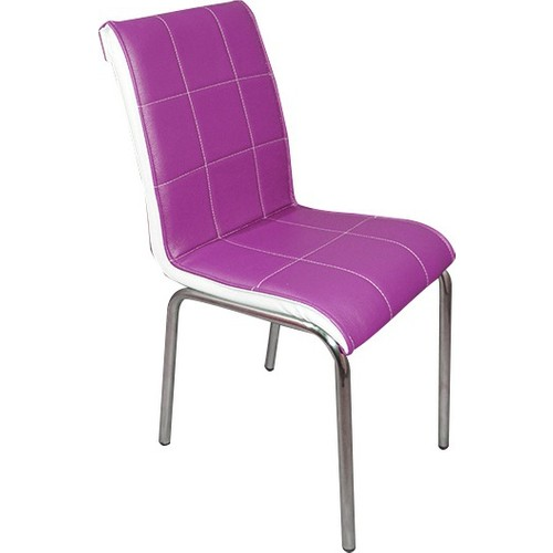 Mavi Mobilya Sandalye Mürdüm Suni Deri (4 Adet)