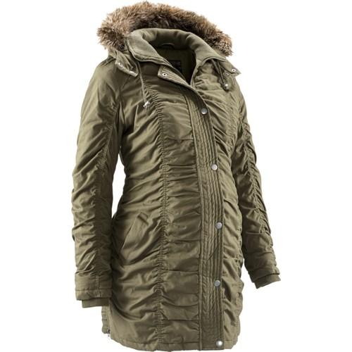 bonprix Yeşil Hamile Giyim Kışlık Mont 34-54 Beden