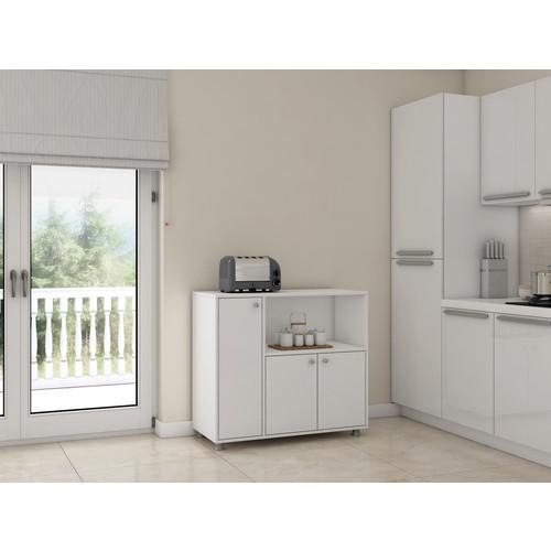 Bestline Ebru 3 Kapaklı Mutfak Dolabı - Beyaz
