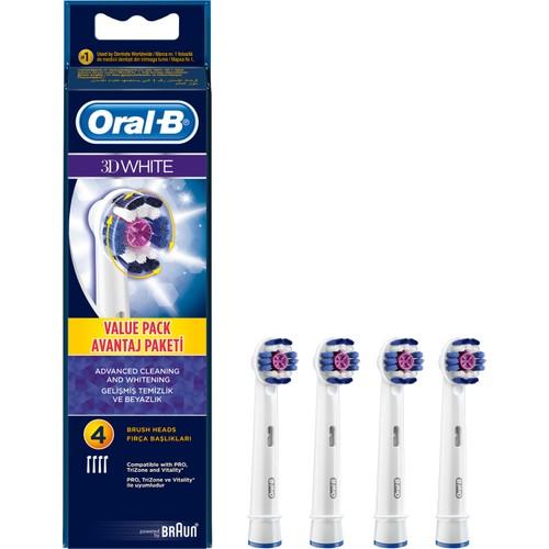 Oral-B Diş Fırçası Yedek Başlığı 3D White EB18 4 Adet