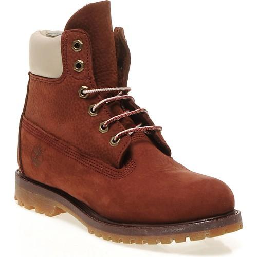 Timberland 6 in Premium Boot 8265R Kadın Bot Burgundy