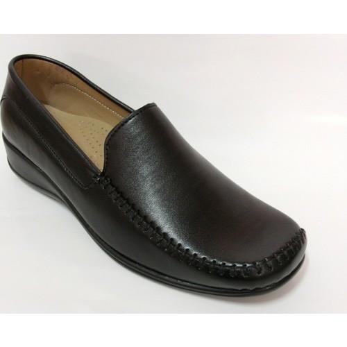 Elçin Siyah Renk Dolgu Topuk Ayakkabı