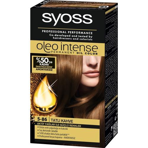 Syoss Oleo Intense Color 5-86 Tatli Kahve Saç Boyası