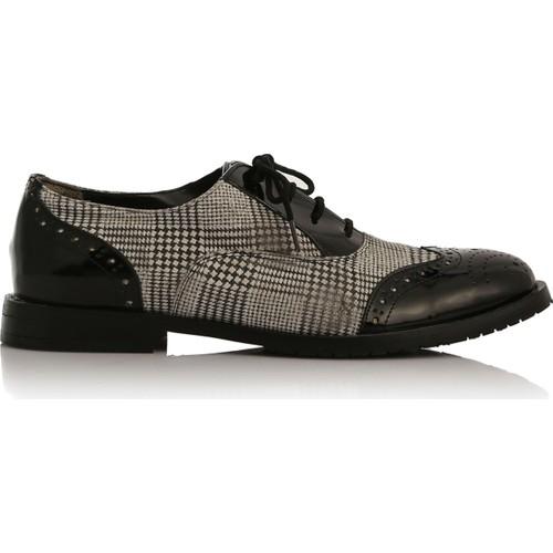 EsMODA Cc-2070 Siyah Gri Kadın Günlük Ayakkabı