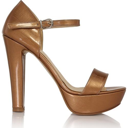 EsMODA Cc-6015 Taba Lavezzi Rugan Kadın Platformlu Ayakkabı