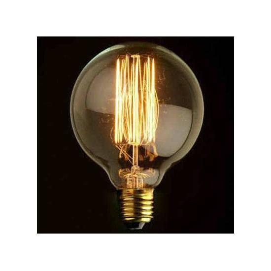 Edison Flemanlı G95 Glop Ampul Modeli 9,5cm Dekoratif Rustik Ampul 40 Watt E27 Duy