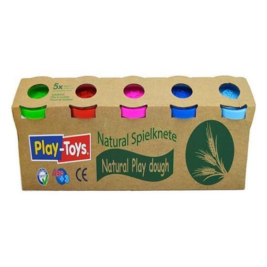 Play-Toys Natural Beşli Oyun Hamuru - 5 x 100 gr