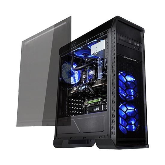 Xigmatek Frontliner EN8811 600W Siyah Usb 3.0 Tam Pencere+ 3 Adet 12cm Mavi Led Fanlı Atx Kasa