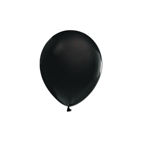 Alpenhaın siyah Lateks Balon 5 Adet