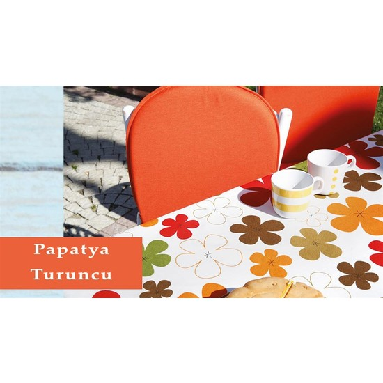 Soley Bahçe Masa Seti - Papatya Turuncu