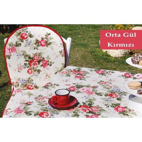 Soley Bahçe Masa Seti - Orta Gül Kırmızı