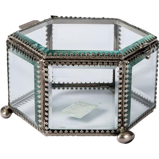 Vitale Pani Altigen Mavi ve Gümüş Camli Dekoratif