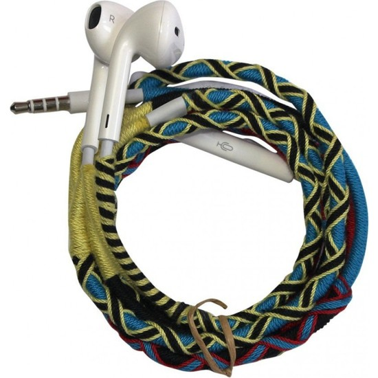 L-Tech . İp Örgü Desenli Kulaklık İos - X77Ts5