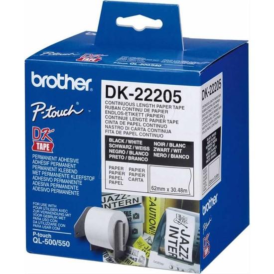 Brother Dk-22205 Sürekli Etiket 62X30.48M (Ql 550/560/570/580/650/1050/1060)