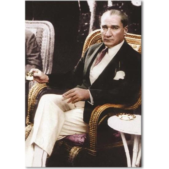 Dementia Art Atatürk Canvas Tablo