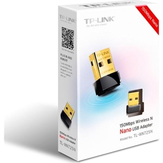 Tp-Link Tl-Wn725N 150Mbps Wi-Fi Nano Usb Adaptör