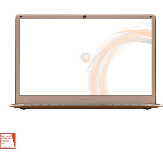 "Hometech Elite Book 14 Intel Celeron N3350 4GB 32GB SSD Windows 10 Home 14.1"" Tablet Bilgisayar - Rose Gold"