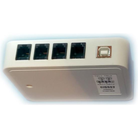 Caller Id Modem 2 Port Cıd602 Müşteri Tanıma Tüm Yazılım. Uyum