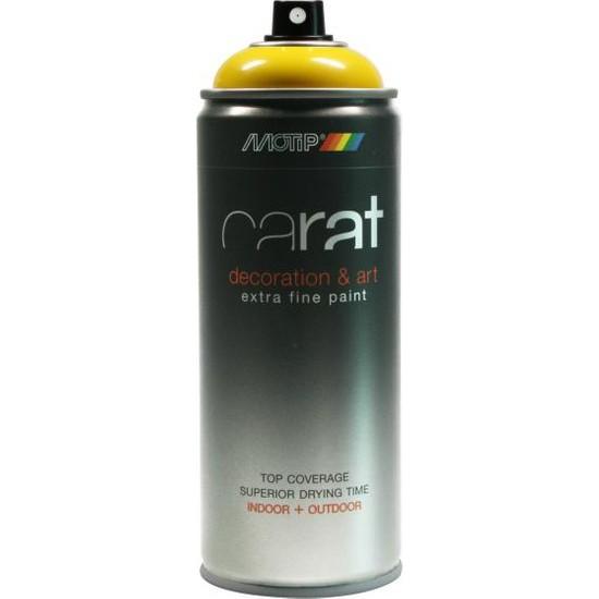 Motip Carat Koyu Parlak Sarı Sprey Boya - 400 ml RAL1007