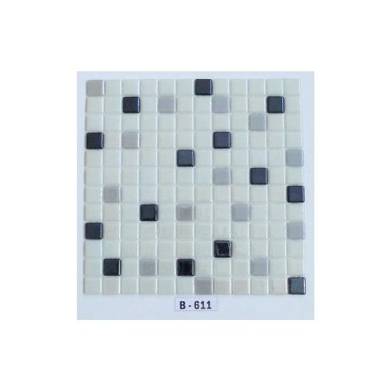 Mcm Mutfak Tezgah Arası Kristal Cam Mozaik B611 - 25 x 25