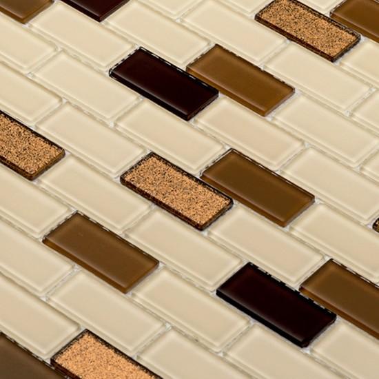 Mcm Mutfak Tezgah Arası Kristal Cam Mozaik 401/S - 23 x 48