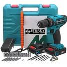 Sturdy Power Tools 32 Volt 5.0 Amper Çift Akülü 27 Parça Uç Setli Şarjlı Vidalama Matkap