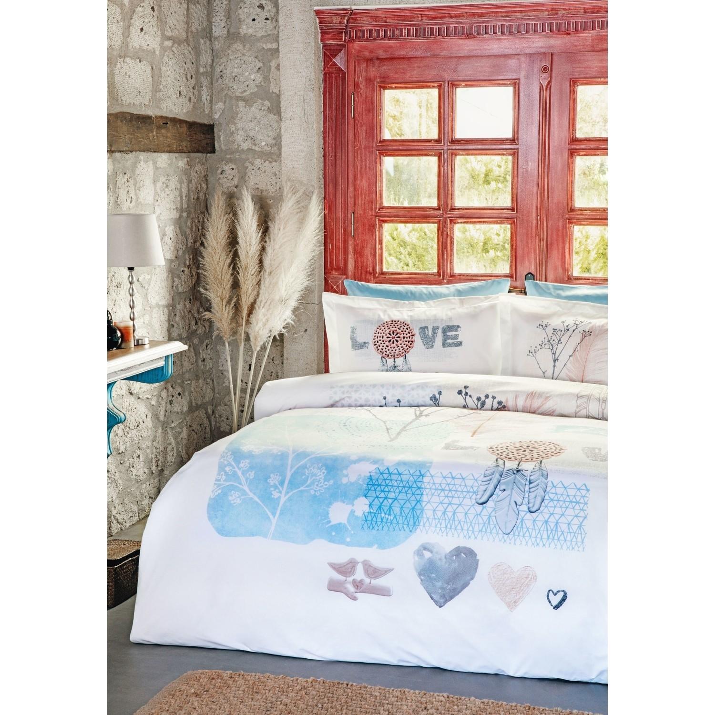 Özdilek Nevresim Takımı Tek Kişilik Dream Love Mavi