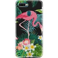 Kılıfland Oppo AX7 Kılıf Silikon Resimli Kapak Daisy Flamingo Stok 1161