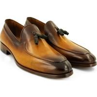 Temmo Bespoke El Yapımı Camel Koyu Püsküllü Loafer Ayakkabı
