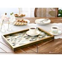 English Home Pure Love Cam Dekoratif Tepsi 31x46 Cm Gold