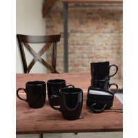 Keramika Siyah Bulut Kupa 9 Cm 6 Adet