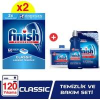 Finish Klasik 120 Tablet Bulaşık Makinesi Deterjanı + Temizlik ve Bakım Seti