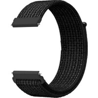 Gpack Honor Watch Magic 2 46mm Kordon Kumaş CırtCırt Kordon Velcro Siyah